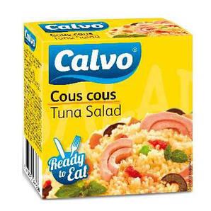 Салат з тунцем CALVO кус-КУС 150 г 24 шт/ящ 23126