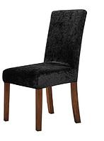 Черные чехлы на стул велюровые, Турция