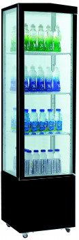 Фото холодильный шкаф Frosty RT235L black на 235 литров стекло со всех сторон