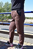 Штаны с начесом женские коричневого цвета, фото 3