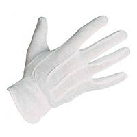 Перчатки для официанта трикотажные белые 12пар/уп Pro Master арт.78419