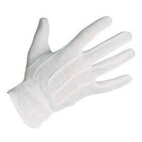 Перчатки для официанта трикотажные белые 12пар уп