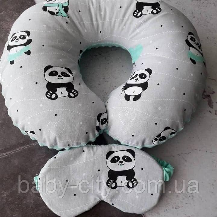 Дорожная подушка и маска для сна.
