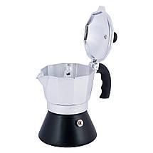 Кофеварка Kamille гейзерная 150мл (3 порции) из алюминия KM-2506, фото 2