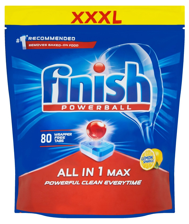Моющее средство для посудомоечных машин Finish All in 1 Max Lemon 80 шт