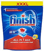 Миючий засіб для посудомийних машин Finish All in 1 Max Lemon 80 шт, фото 1