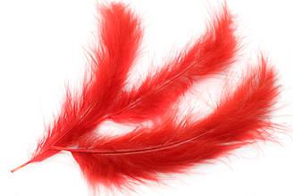 Декоративные перья для рукоделия, 30шт. Длина 12-15 см. Цвет Красный