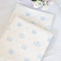 """Фланелевая пеленка """" голубые короны"""", фото 1"""