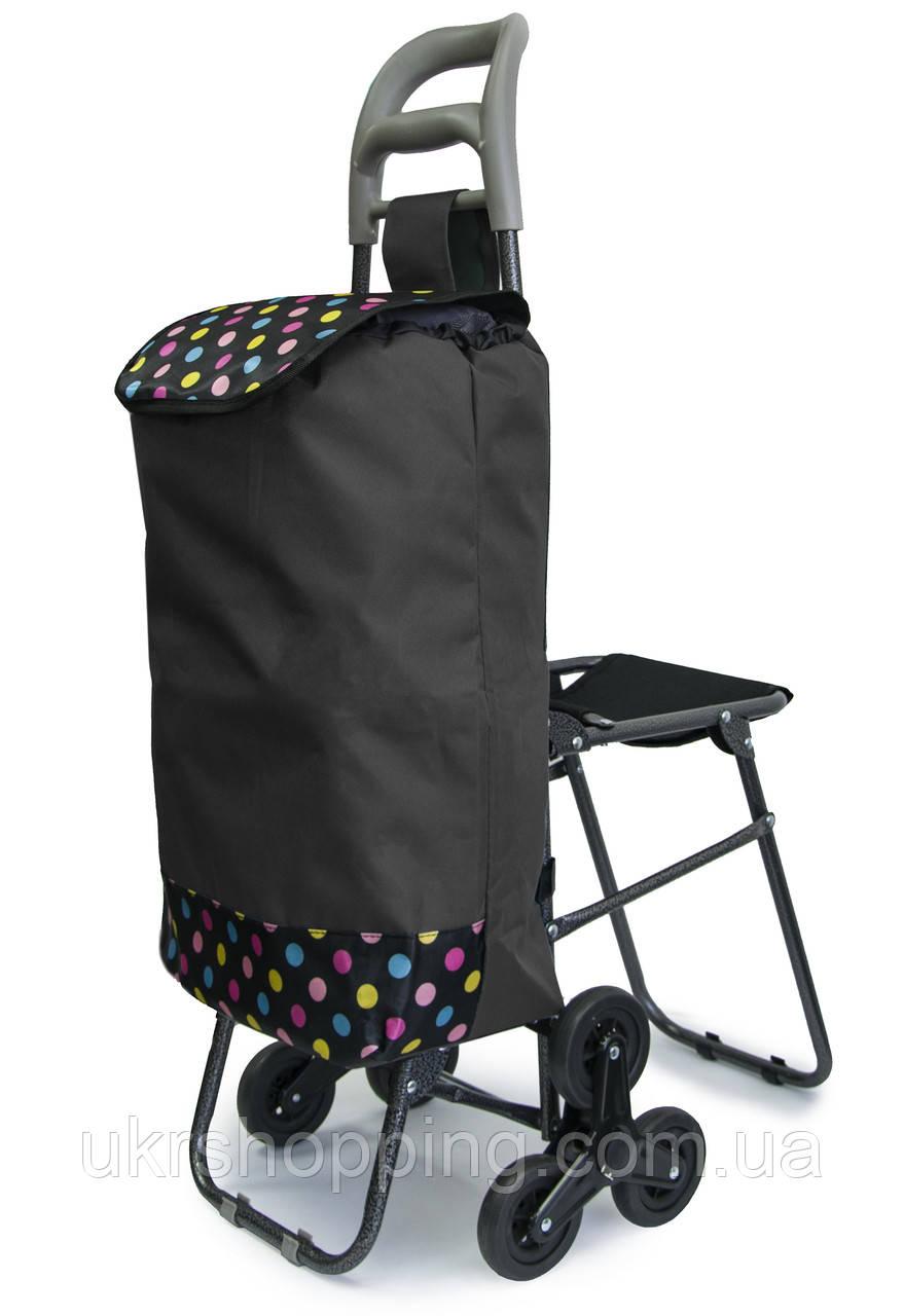 Ручная кравчучка на колесиках - хозяйственная тележка для продуктов, Цвет №23 тачка для ступеней (SH)