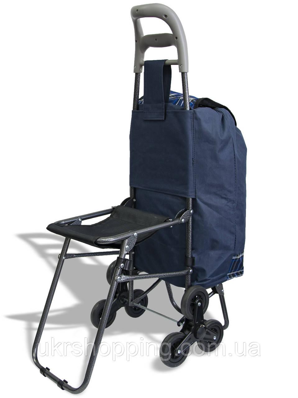 Кравчучка ручная хозяйственная - тележка на колесиках, для продуктов, Цвет №26 тачка на трех колесах (SH)