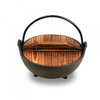 Казанок чугунный с деревянной крышкой 500мл Pro Master арт.29063