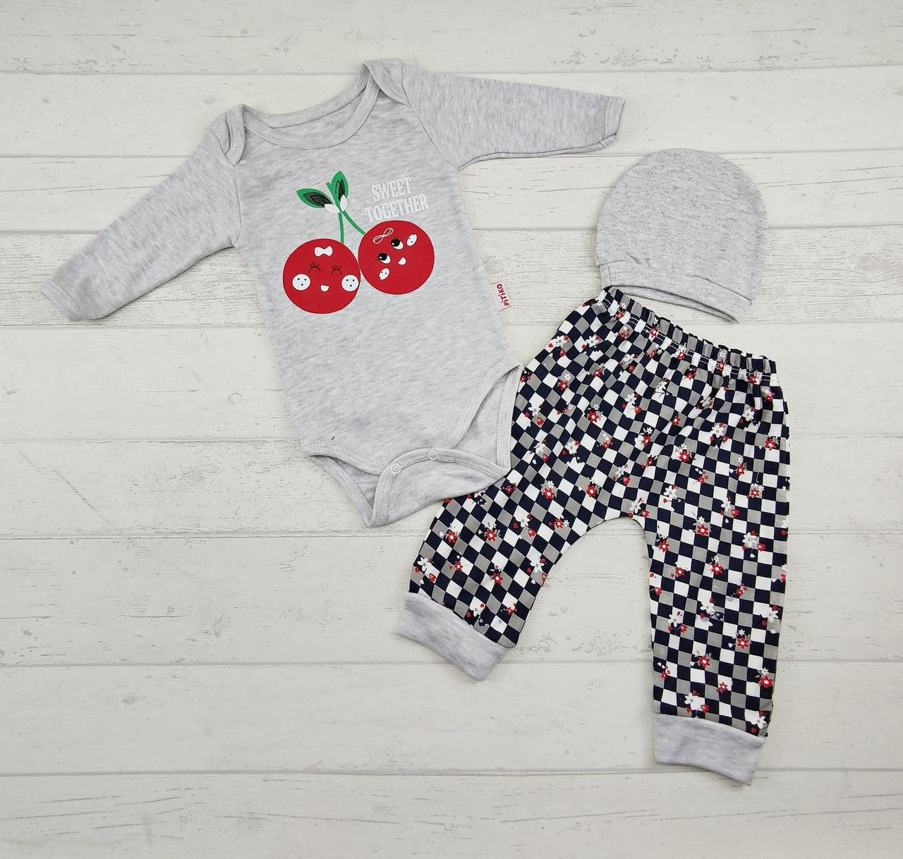 Костюм для новонароджених боді і штани 3,6,9 міс