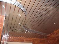 Алюминиевые подвесные реечные потолки зеркальные хром золото медь