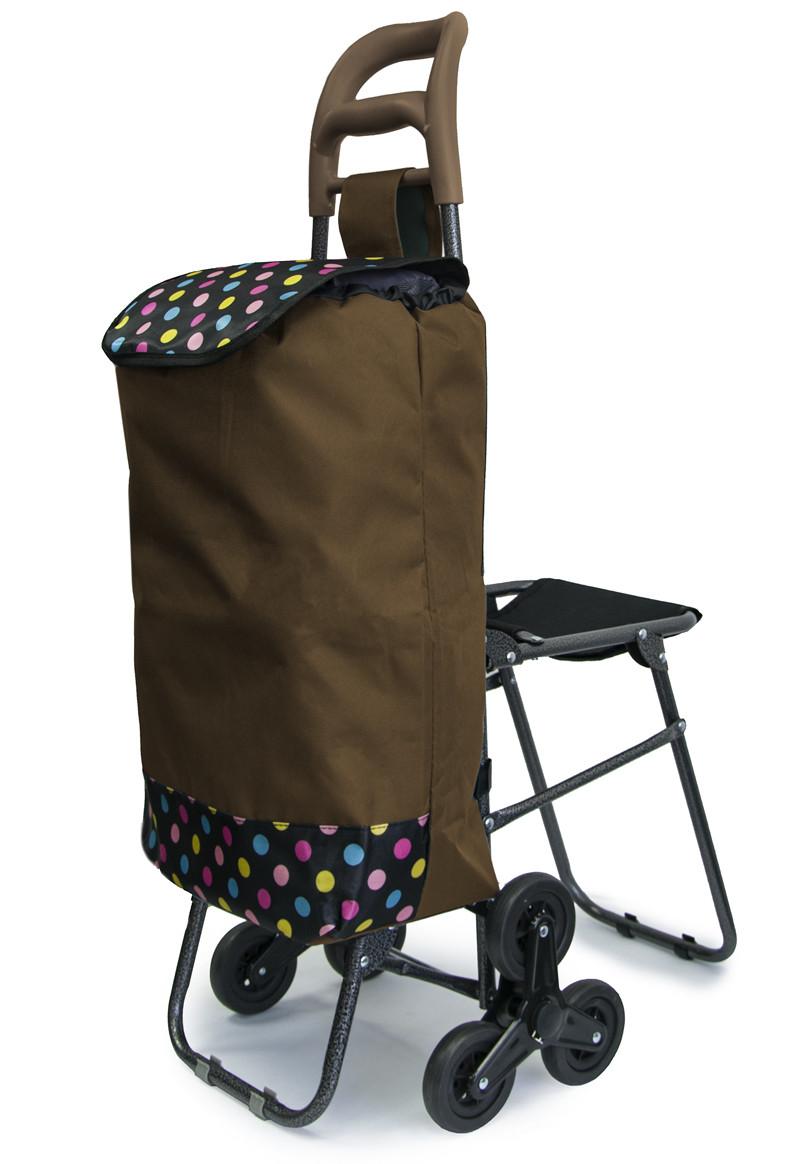 Хозяйственная кравчучка - ручная тачка для продуктов, на колесиках, Цвет №24 тележка на трех колесах (GK)