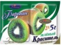 """Краситель сухой """"Украса"""" синтет.зеленый 5 г(код 01558)"""