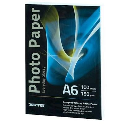 """Фотопапір """"Tecno"""" (Premium) А6 150г/м2 глянц.(100)"""