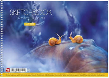 Альбом для малюв. на пруж. 30/120 A4 картон №PB-SC-030-282/Школярик/(9)(63)