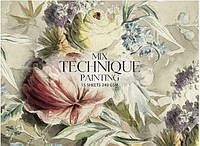 """Альбом для малюв. склейка 15арк. A4+ """"Muse"""" Mix Technique №PB-GB-015-051/Школярик/(1)(44)"""