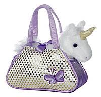 Белый единорог  в сумочке Aurora Unicorn Fancy Pals Pet Carrier