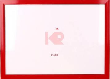 """Фоторамка """"DL"""" 10х15 №DL-145 червона з білою окантовкою(24)"""