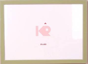 """Фоторамка """"DL"""" 10х15 №DL-146 зелена з білою окантовкою(24)"""