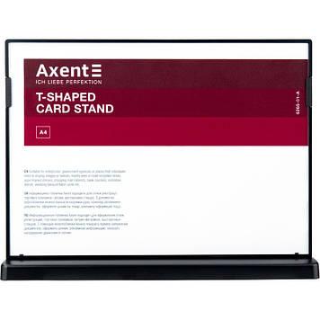 "Табличка інформаційна горизонтальна ""Axent"" А4 №6265-01-А чорна"