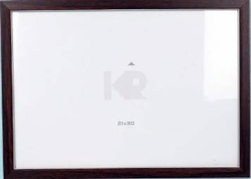 """Фоторамка """"DL"""" 10х15 №DL-150 дерево венге з білою окантовкою(24)"""