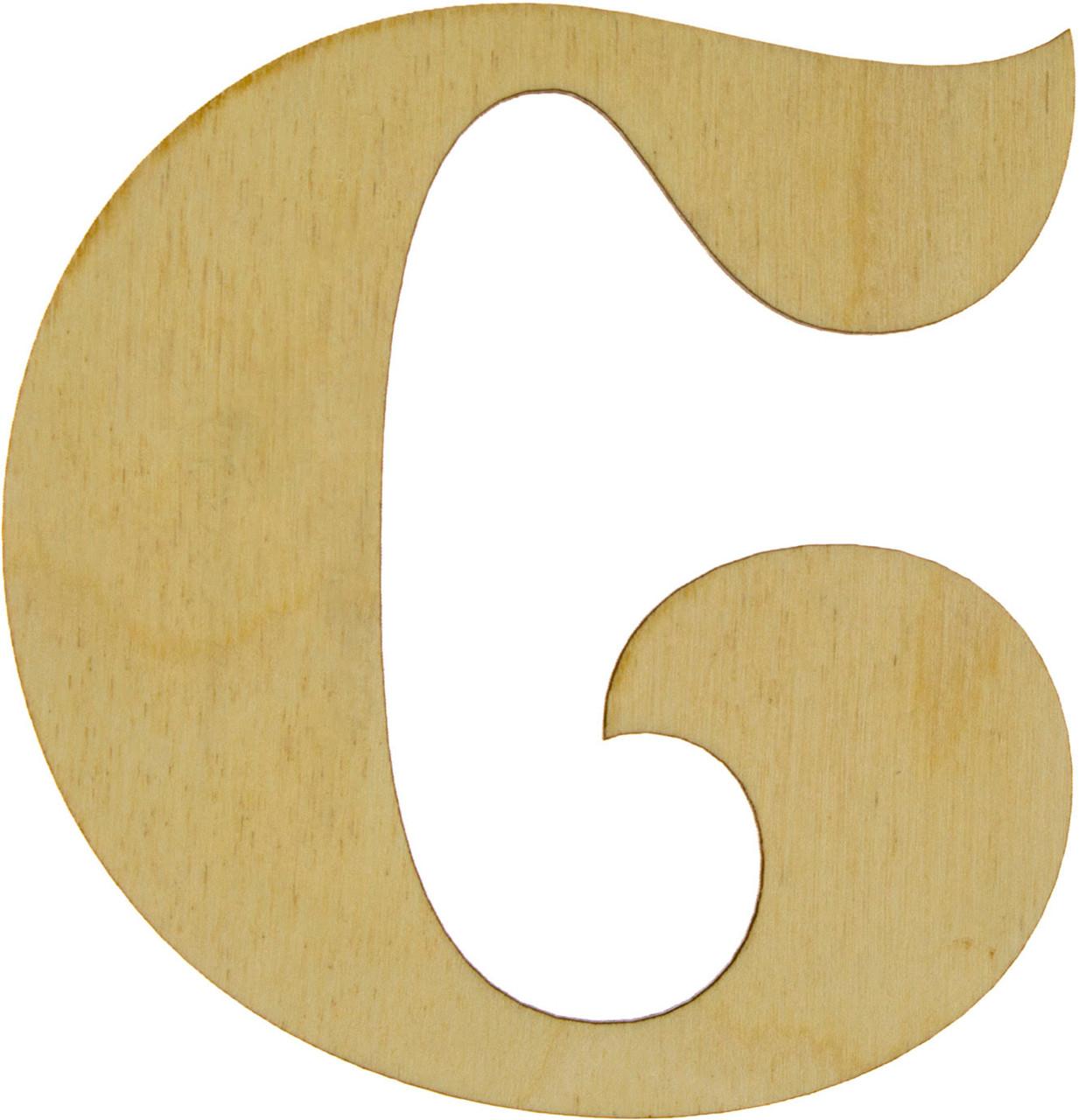 """Літера англ. 10см """"C"""" фанера(5)"""