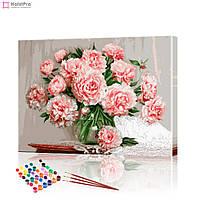 """Картина за номерами """"Ніжні квіти"""" PBN0142, розмір 40х50 см"""