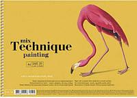 "Альбом для малюв. на пруж. 20арк. A4 ""Muse"" Mix Technique №PB-SC-020-309/Школярик/(1)(36), фото 1"