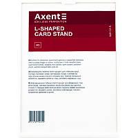 """Табличка інформаційна L-подібна """"Axent"""" A5 №6251-21-А біла, фото 1"""