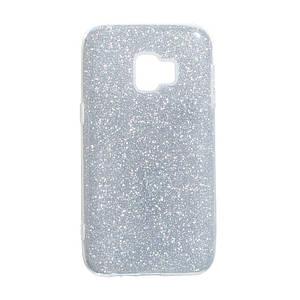 Чехол для Samsung Galaxy J2 Core (2018) J260 Glitter Case с блештяшками накладка на самсунг дж 260 Серебряный