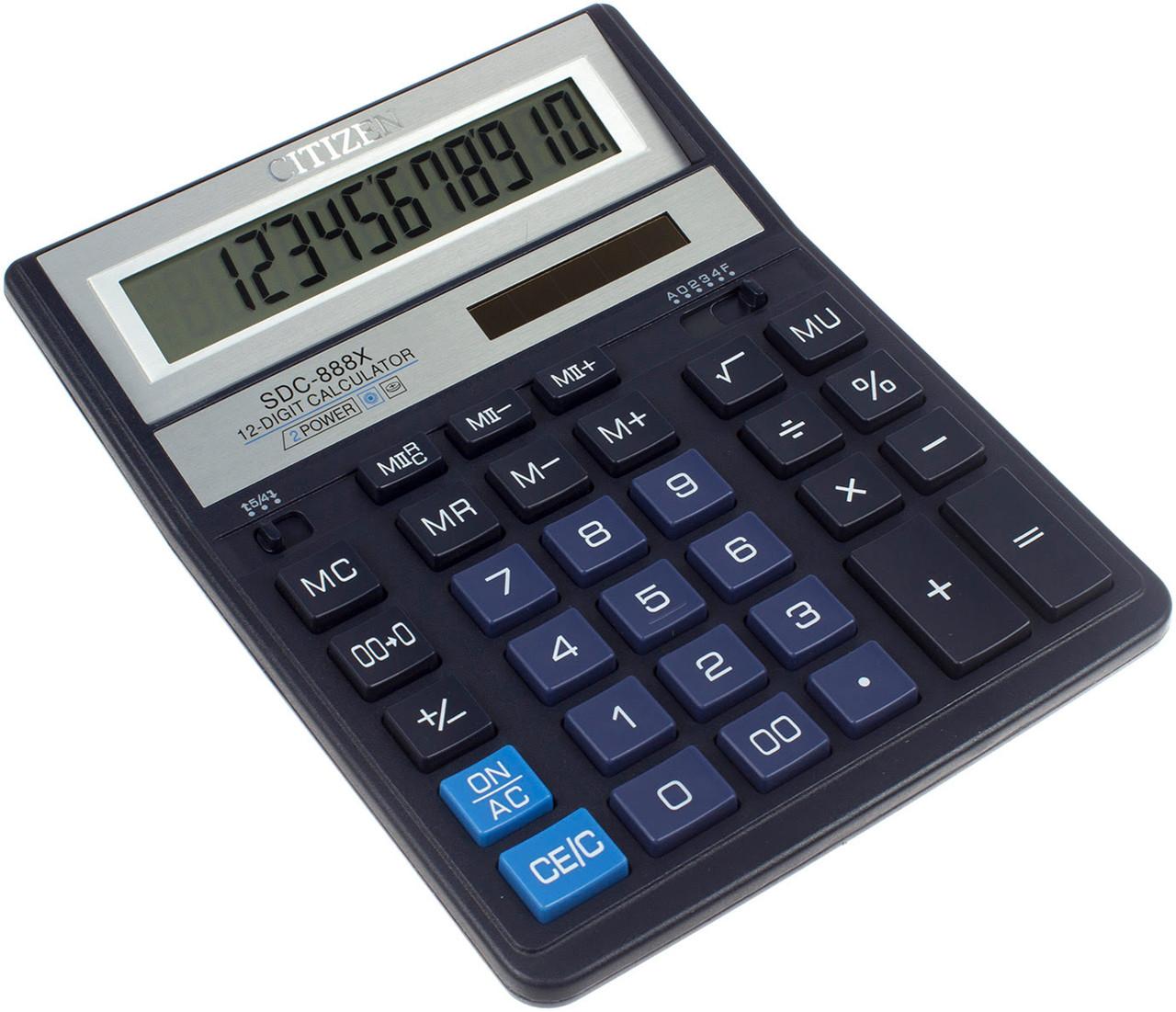 "Калькулятор ""Citizen"" №SDC-888XBL син. (12-розряд.)"