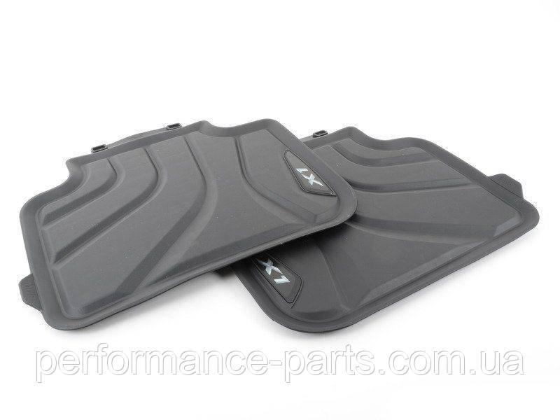 Коврики оригинальные для BMW X1 (F48) задние резиновые черные
