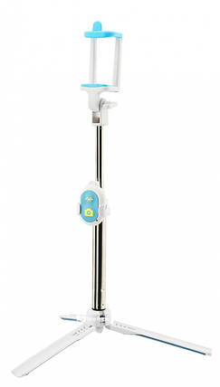 Монопод-тринога з пультом Bluetooth TD-BT3 Блакитний, фото 2