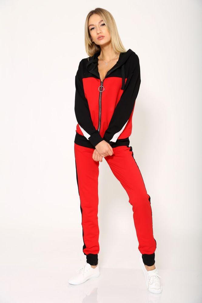 Спорт костюм женский 102R030 цвет Красный