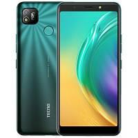 Смартфон зеленый с большим дисплеем и мощной батареей Tecno POP4 (BC2) 2/32Gb DS Green Quad-core UA UCRF