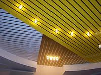 """Алюминиевый потолок Бард: панель шириной 149мм, цвет """"белый глянец"""""""