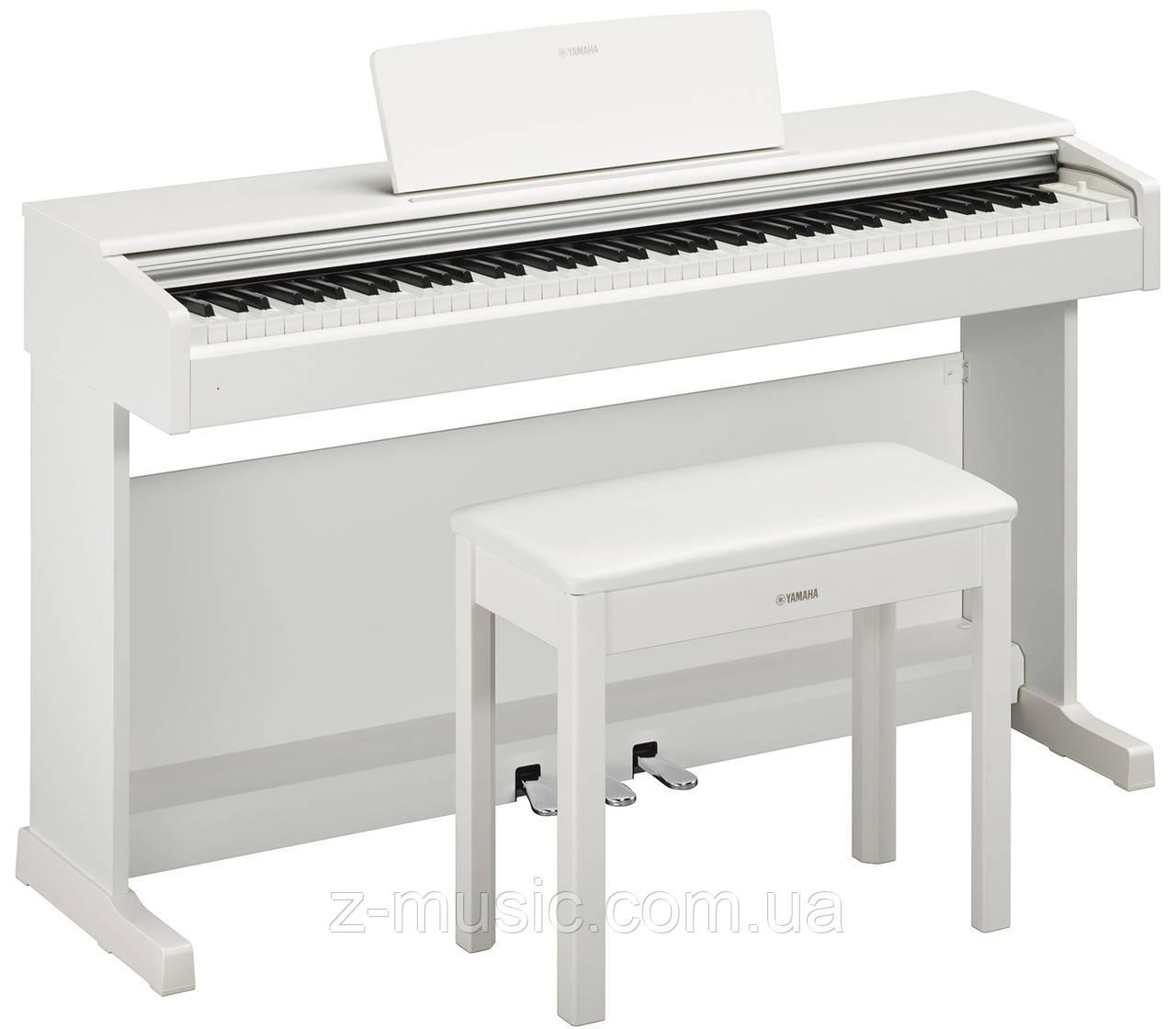 Клавинова(цифровое пианино) YAMAHA ARIUS YDP-144 (White) (стойка, фирменная банкетка, сетевой адаптер)