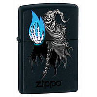 Zippo 28033 GHOSTLY FLAME black matte