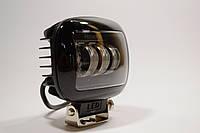 Дополнительная светодиодная LED фара 45Вт Квадратная (Black), Четкой световой теневой границей