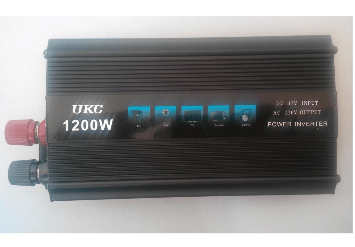Преобразователь авто инвертор UKC 12V-220V 1200W - Интернет магазин Маячок в Харькове