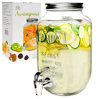 Диспенсер для лимонада 3,5 л кр. серебро 9037-02