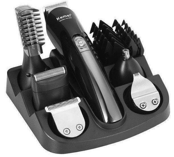Машинка для стрижки волос Kemei KM-600 набор из 11 насадок и подставки Черный (009904)