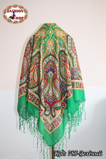 Украинский зелёный народный платок Киевская Русь