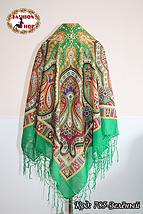 Украинский зелёный народный платок Киевская Русь, фото 2