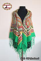Украинский зелёный народный платок Киевская Русь, фото 3
