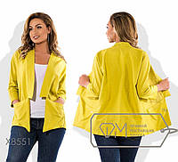 Распродажа. Женский летний пиджак-накидка лен р.50 Код Триестр