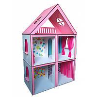 Ляльковий Будиночок Великий Особняк Барбі 5 кімнат, 3 поверхи + шпалери + штори 3105 Fana