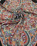 Жемчужные росы 1907-18, павлопосадский платок шерстяной  с оверлоком, фото 4